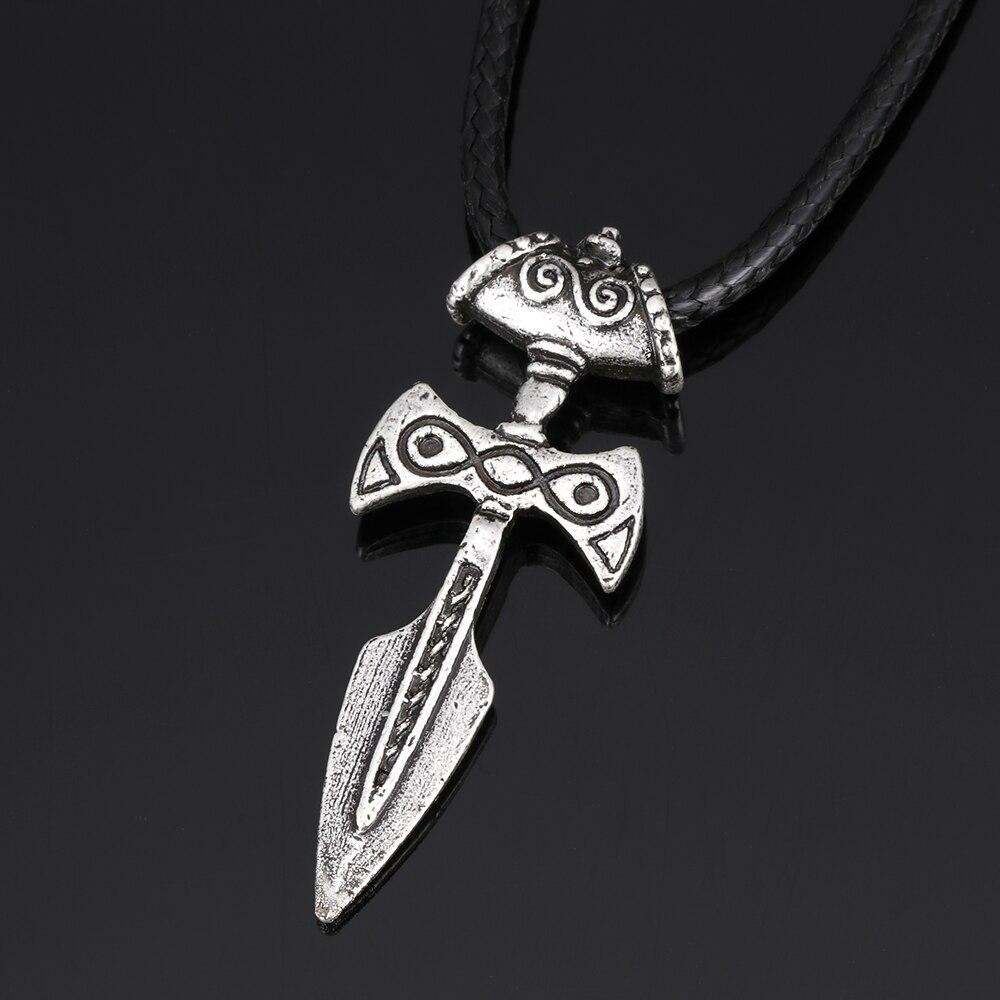 Amulet Of Talos 1pc antique silver viking sword pendant necklace amulet of