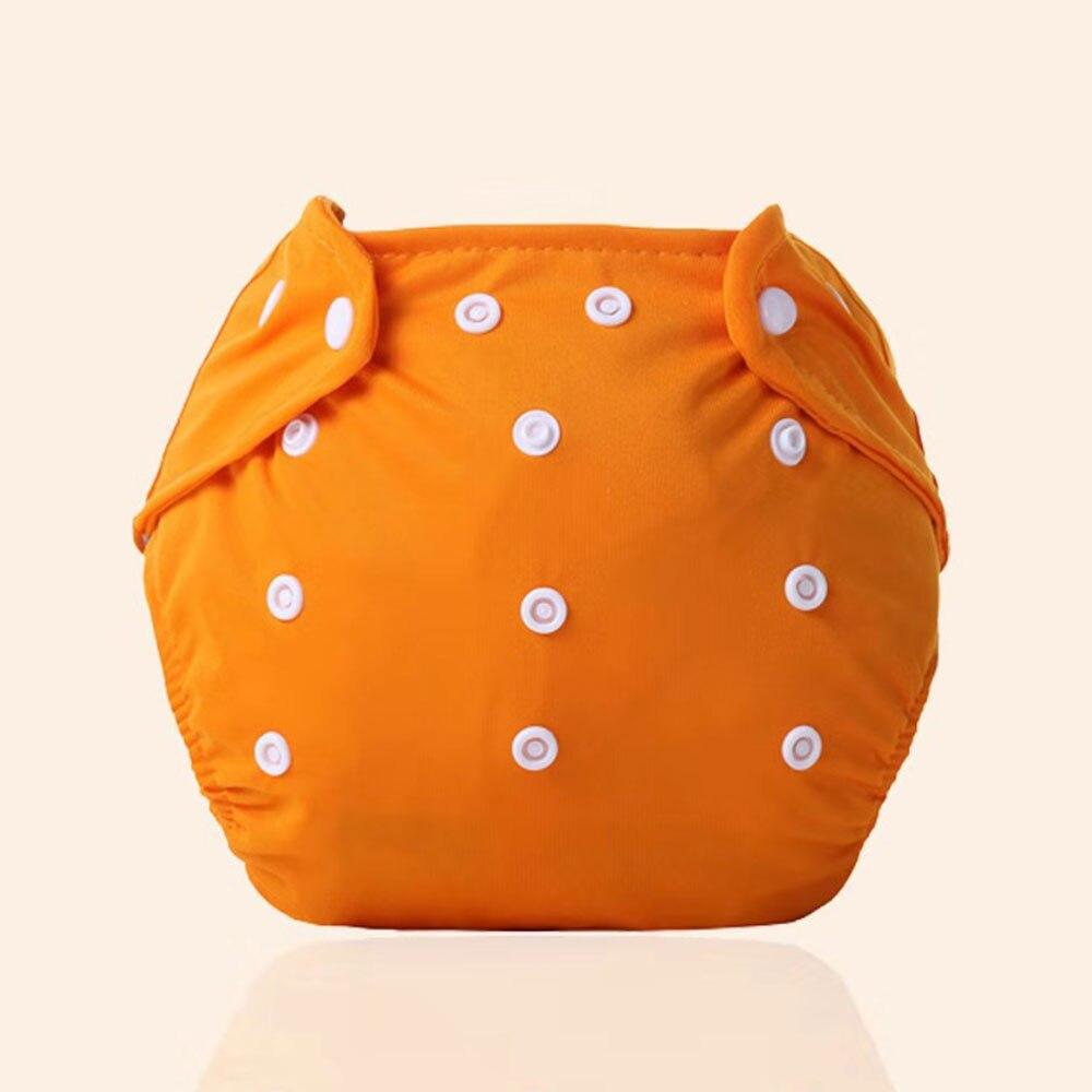 Детские тканевые подгузники детские подгузники хлопковые многоразовые подгузники с карманами моющиеся регулируемые детские подгузники - Цвет: orange