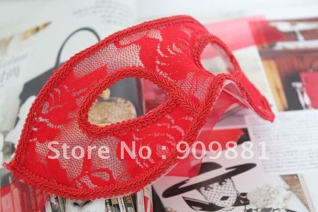 Sexy Half Face Lace Mask Halloween Scottish Venice Dance Party Supplies Three Colors For Beautiful Girl Or Women 50pcs/lot