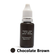 Professional Tattoo Ink Microblading Permanent Makeup Micro Pigment For Eyebrow Lip Eyeliner 1/2 Oz 15ML Chocolate Brown 1 Piece