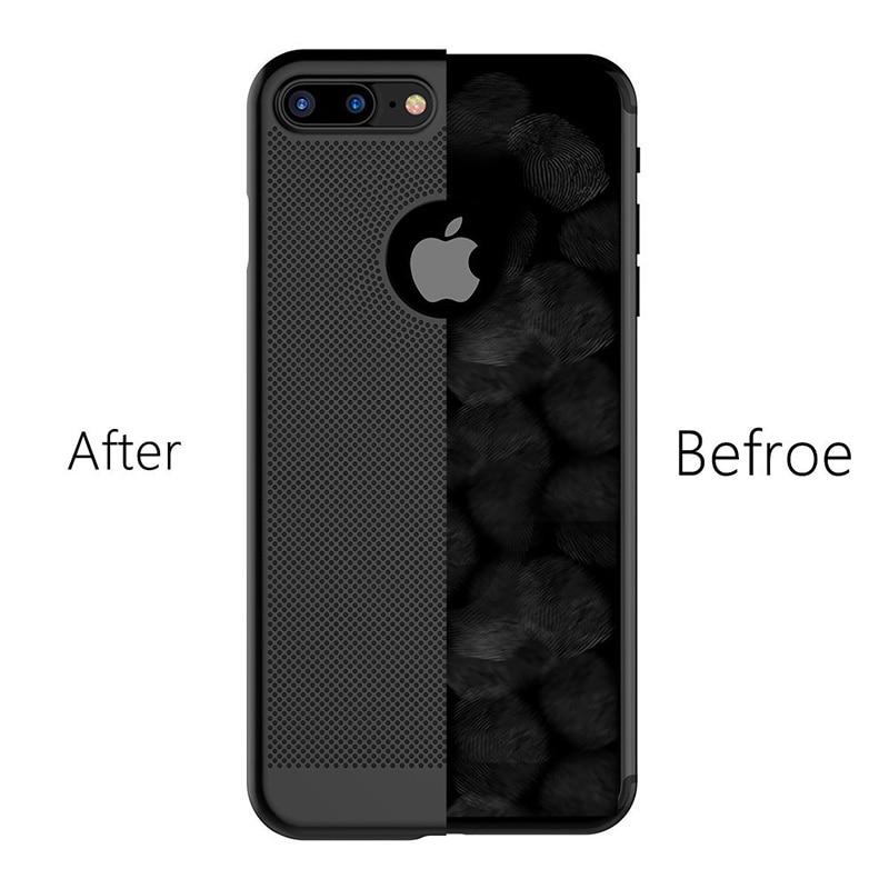 Caja del teléfono de enfriamiento para iPhone 7 Fundas Malla - Accesorios y repuestos para celulares - foto 3