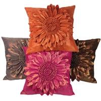 Sang trọng Vuông Trang Trí Cushion Cover đối với Sofa, 45 cm * 45 cm, Handmade Sun Flower In Cushion Cover, ném Gối Trường Hợp Bìa