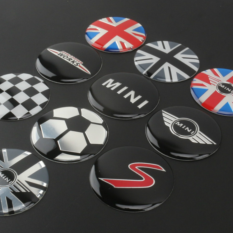 4pcs 52mm Car Styling Accessories Emblem Badge Sticker Wheel Hub Caps Centre Cover MINI Cooper Tattoo Clubman Contryman Coupe