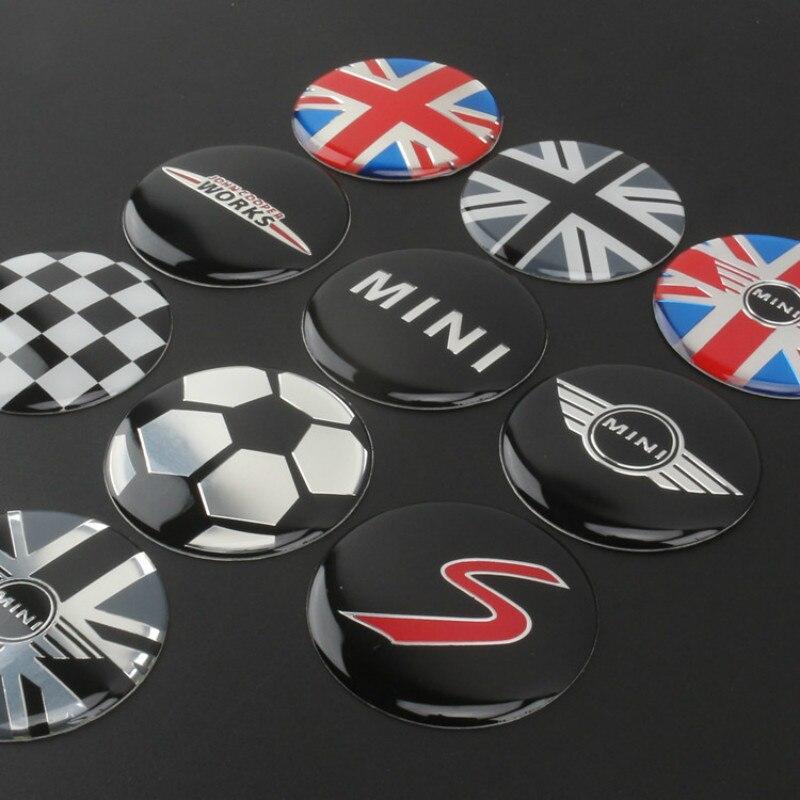 4pcs 52mm Car Styling Wheel Center Cover Sticker Hub Cap Decal Emblem Badge For Mini Cooper S JCW R53 R52 R55 Clubman Countryman