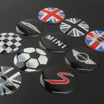 4pcs 52mm Car Styling Wheel Center Cover Sticker Hub Cap Decal Emblem Badge For Mini Cooper S JCW R53 R52 R55 Clubman Countryman 2pcs set door rear view mirrors cover case sticker decal car styling for mini cooper one s r50 r52 r53 2002 2006 accessories