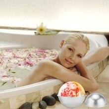 6Pcs Metal Aluminum Alloy Bath Bomb Mold 3D Ball Sphere Shape DIY Bathing Tools Accessories