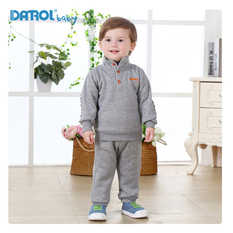 1T-4T Cotton Sprots Suit For Boys Girls Solid Fleece Children Boys Clothes Long Sleeve Girls Sports Suit Boys Clothes DR0163 2017 new boys clothing set camouflage 3 9t boy sports suits kids clothes suit cotton boys tracksuit teenage costume long sleeve