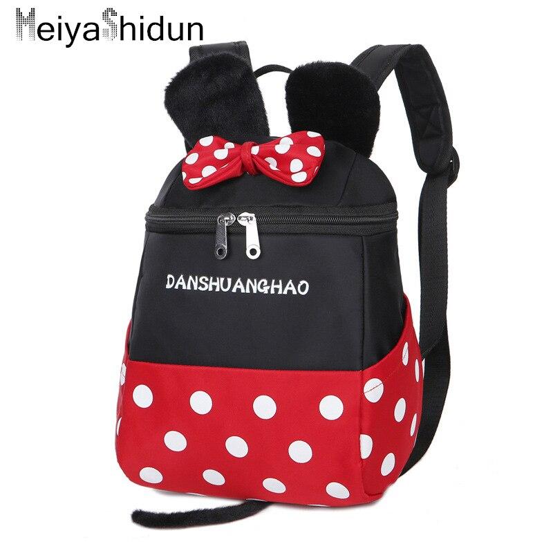 Cartoon mickey Backpack Kids School Bags For Girls Boy Children Schoolbag Backpacks kindergarten Minnie Baby Bag Mochila escolar