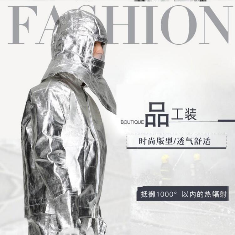 1000 Degrees Fireproof Suit high temperature operation uniform fire protection clothing 1000 degrees heat insulation clothing
