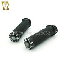 Черный Высокое Качество Мотоциклов 1 «25 мм Алюминиевый CNC Deep Cut Ручка Бар Рука Крест Ручки Для Harley