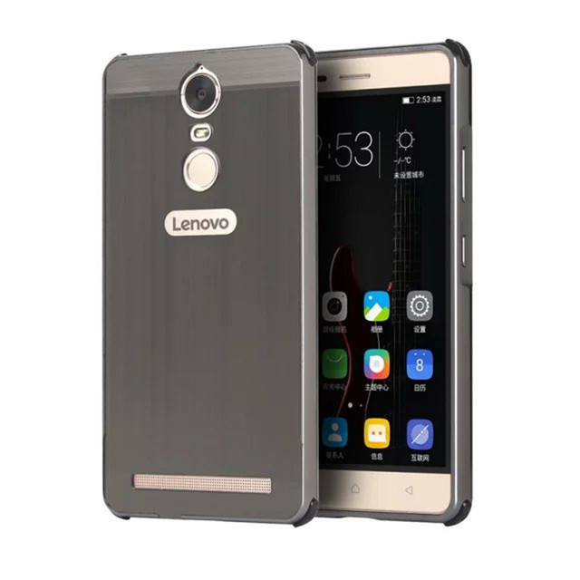 US $7 88 5% OFF|Lenovo Vibe K5 Note A 7020 A7020 Case Plating Metal Frame  with Brushed Back Cover Hard Case for Lenovo Vibe K5 Note A7020 5 5