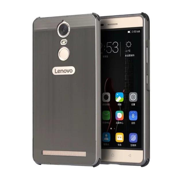 huge selection of 18aac 9af47 US $7.88 5% OFF|Lenovo Vibe K5 Note A 7020 A7020 Case Plating Metal Frame  with Brushed Back Cover Hard Case for Lenovo Vibe K5 Note A7020 5.5