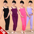 Children's clothing girls dance clothes and gym pants overalls suspenders piece pants strap slimming pants