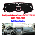 Car dashboard covers for Hyundai new Santa Fe 2012-2016 IX45 2015-2016 Left hand drive dashmat pad dash cover auto accessories