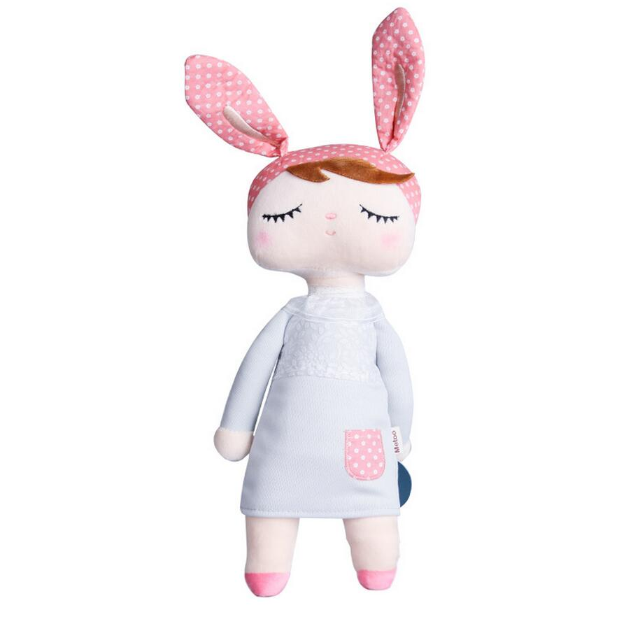 34cm Angela rabbit dolls Metoo baby plush toy doll lovely stuffed toys Dolls for kids girls Birthday/Christmas Gift  multifunctional hats for women and men skullies