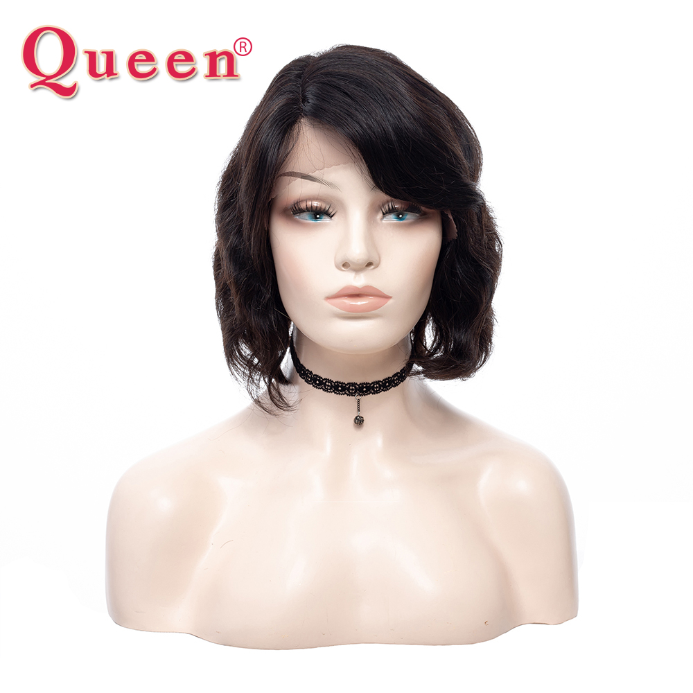 Queen Bob Wigs Human Hair Brazilian Hair Wig Body Wave Short Bob Wig 130% Destiny Short Human Hair Wigs Non Remy Hair Extensions ...