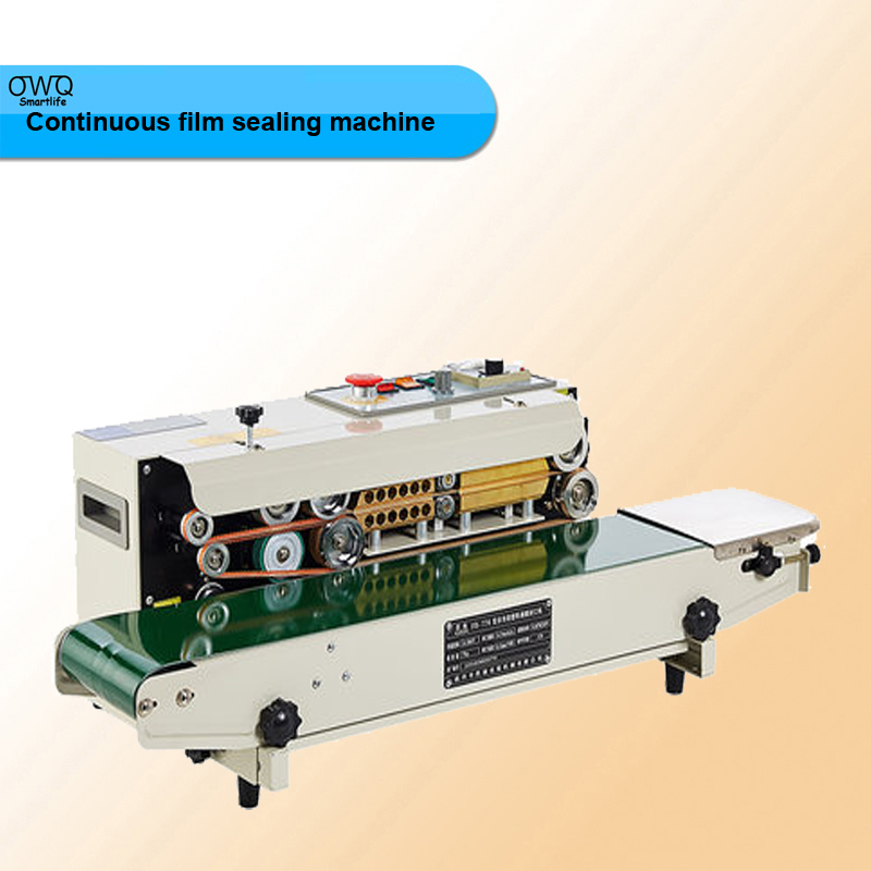 FR-770 Continuous film sealing machine plastic bag package machine band sealer horizontal heating sealing machine  цены