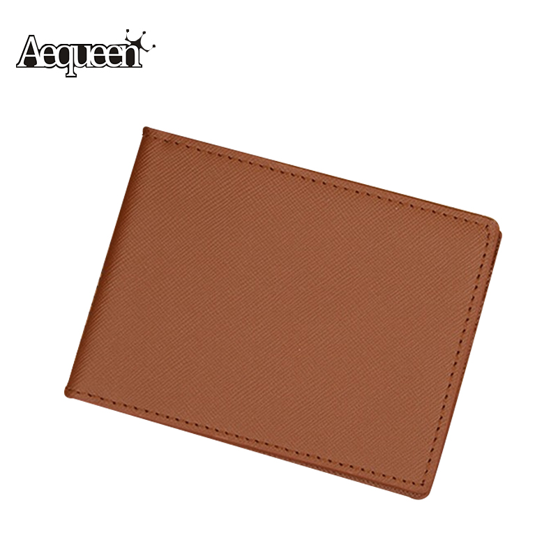 Men Wallet Short Skin New Mens Purses Fashion Leather Sollid Thin Wallet Credit Card Holders Korean Male Notecase Carteira