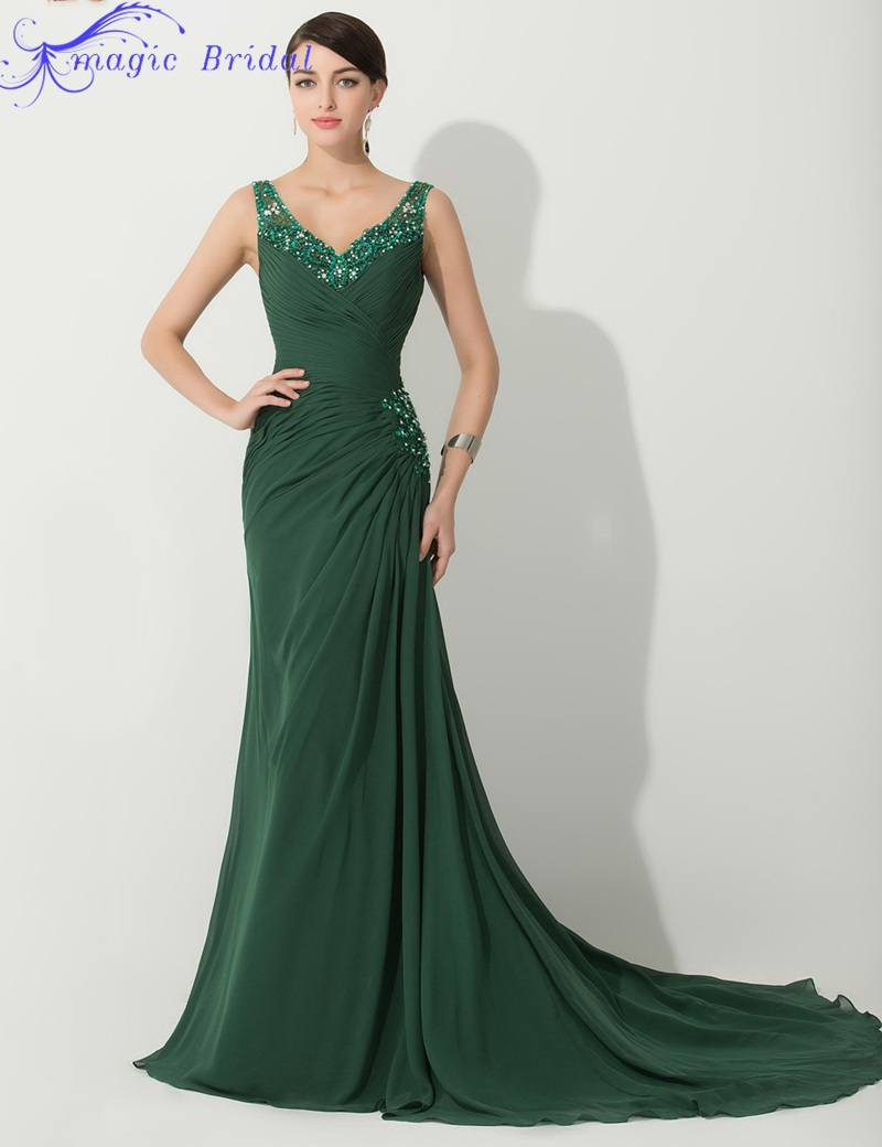 Welcome To Our Elegant V Neck Beaded Chiffon Mother Of The Bride Dresses