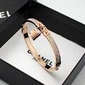 Fashion fashion all-match rose gold full rhinestone lock bracelet female brief gift