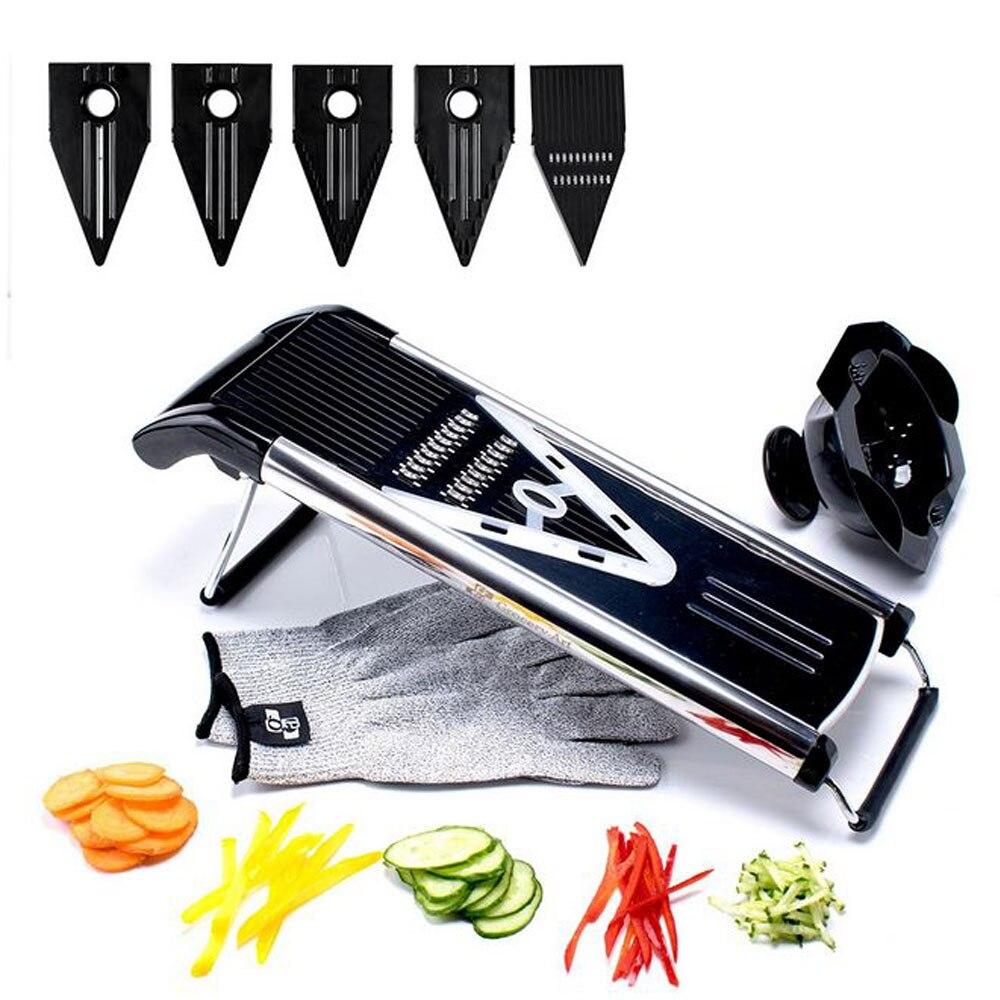 Trancheuse 5 lames coupe légumes acier inoxydable coupe légumes râpe Gadget carotte coupe pomme de terre outil de cuisine