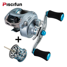 Piscifun Premier Baitcasting Reel Extra Lightweight Spool 7BB 6.5: 1 Magnetic Brake 179g Aluminum Right  Left Hand Fishing Reel
