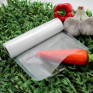 Image 3 - Sacs fraîcheur sous vide pour aliments, 5 rouleaux, 28x300CM, pochette avec fermeture sous vide pour conservation des aliments R123