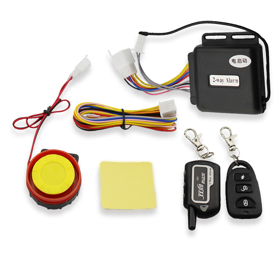 Universal Motorcycle Lock Security Two Way Alarm 125db Sound Full Function Remote Control Engines Start Anti Cut Off