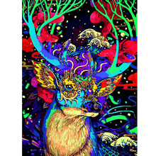 Adult 300/500 pieces Jigsaw fantasy Deer Cartoon Wooden Puzzle for Children 500 Piece Educational Toy Christmas Gift puzzles