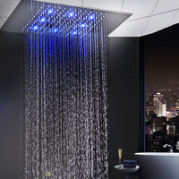 Large Rainfall LED Shower Faucets Embedded Ceiling Water Showerhead 304 Stainless Steel Hotel Shower Bath Products