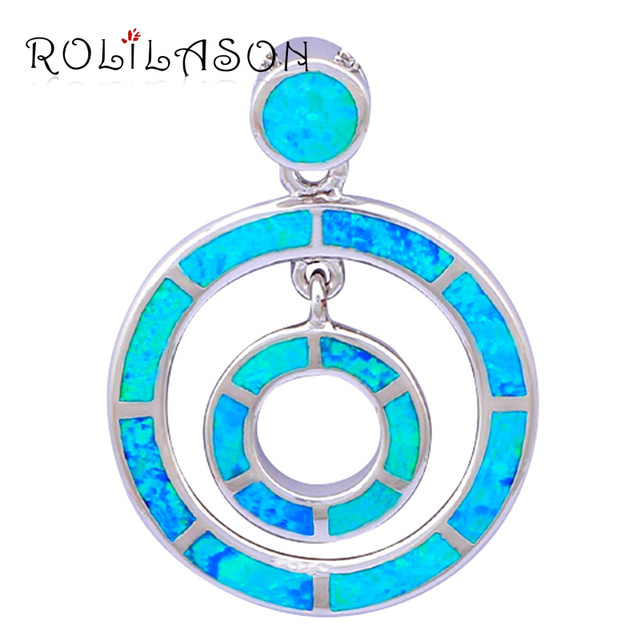 Round style Designers High Quality 2014 New blue Fire Opal Pendants