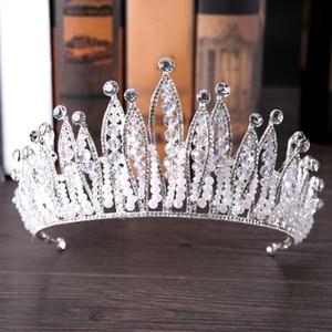 Image 2 - Fashion Luxury Silver Color Tiara Crown Bridal Hairband Rhinestone Crystal Headband Women Hair Jewelry Wedding Hair Accessories