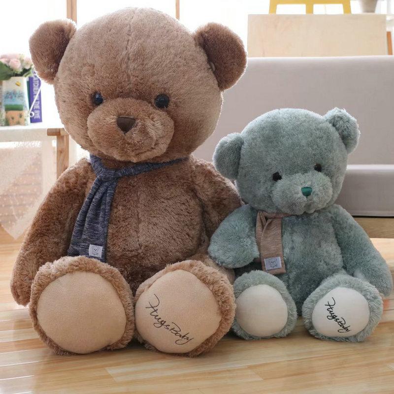 80 cm gris/brun mignon ours en peluche jouets doux ours en peluche peau anniversaire populaire saint-valentin cadeaux pour filles enfant jouet
