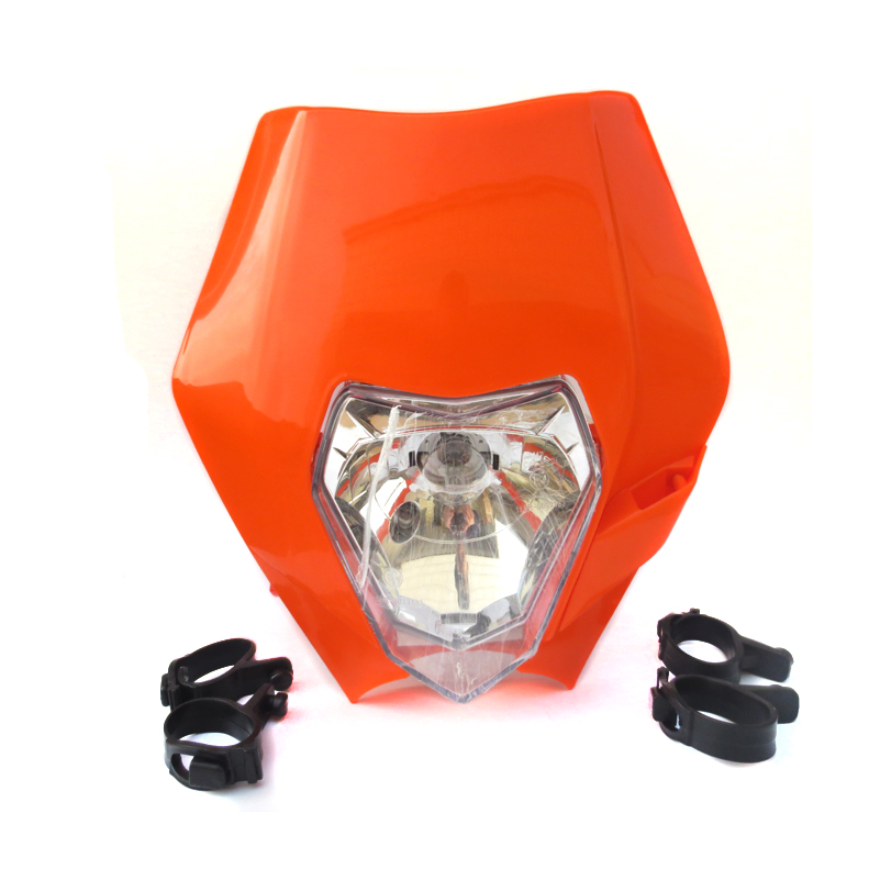 12V 35W Headlights Head Lamp Fairing for Motorcycle MX Dirt Bike Off Road Dual Sport KTM SX EXC XCF SXF SMR image