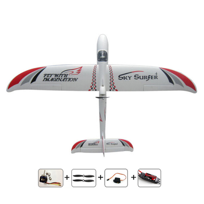 2000mm RC glider remote control airplanes 2M Skysurfer PNP with motor,ESC,Servo RC Plane for hobby remote control model airplane aluminum screw tray with magnetic rc hobby model repair tool for remote control car airplane boat helicopter