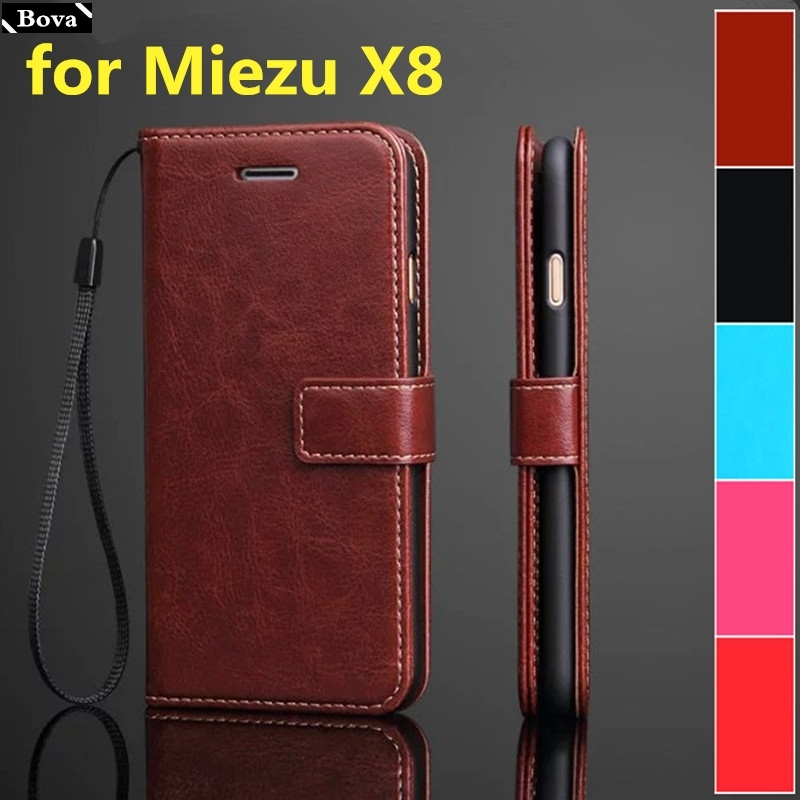 Pu Leather Case For Meizu X8 card holder cover case for Meizu X8 pu leather phone case wallet flip cover