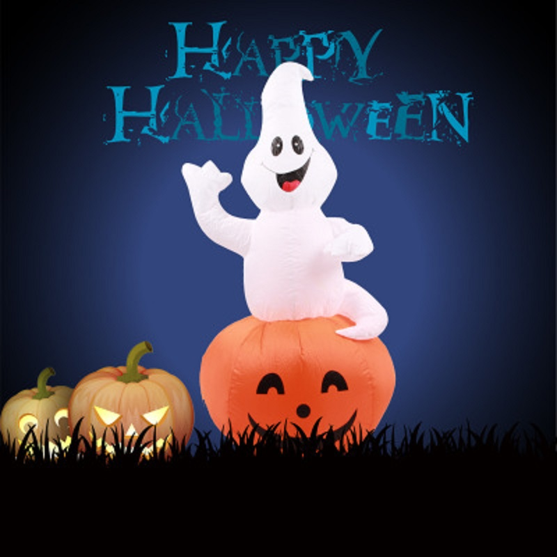 12 m halloween inflatable rotatable ghost pumpkin yard decoration lighted blow up