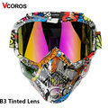 VCOROS мотоциклетный шлем щит для лица модульный для открытого лица Ретро Винтажные шлемы съемные googgles с защитой от ветра