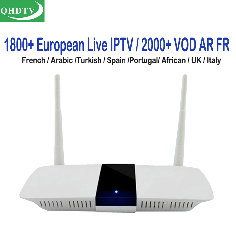 Arabic IPTV Box Dalletek Smart Android TV Boxes 1 Year QHDTV IP TV Subscription Turkish French