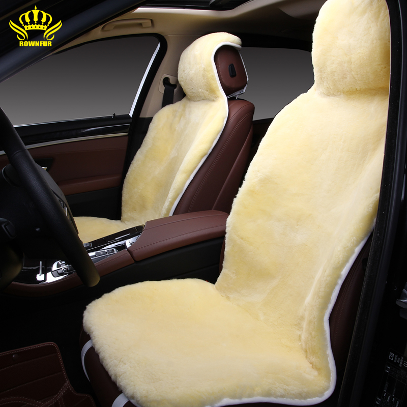 Crown auto fur fur seat cover car of australian sheepskin for Motor sheep seat covers