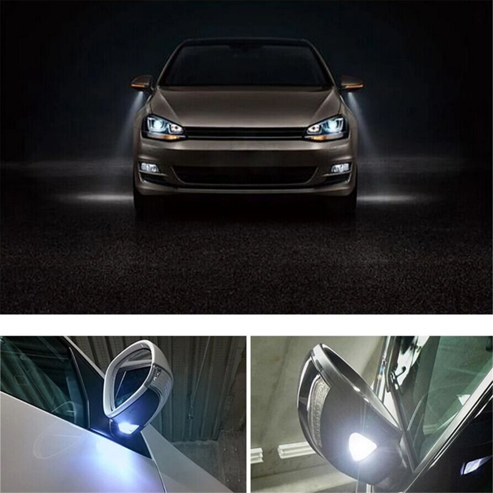 Auokey 2PCS Under Side Mirror LED Puddle Lights Courtesy Lamps White for Eos/<font><b>Golf</b></font> <font><b>5</b></font>/<font><b>Golf</b></font> <font><b>5</b></font> Plus/ <font><b>Golf</b></font> <font><b>Variant</b></font>/Jetta/Passat image