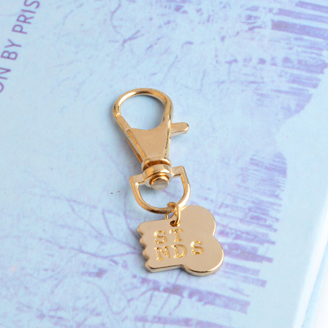 QIHE JEWELRY 2pcs/set Gold Silver Color Dog Bone Best Friends Charm Necklace & Keychain Handstamped BFF Bones Friendship Jewelry 3