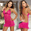 HQ New HOT Fashion Midnight Charm Sexy Women Rose Red Erotic Lingerie Lace Temptation Dress One Size NXH20029
