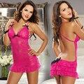 HQ New HOT Moda Charme Da Meia Mulheres Sexy Rose Red Erotic Lingerie de Renda Tentação Vestido One Size NXH20029