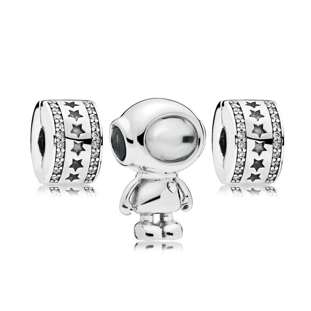 Nouveau 100% 925 argent Sterling nouveau 1:1 RAU0535 ensemble de breloques Cosmo bijoux originaux cadeaux de noël recommandés
