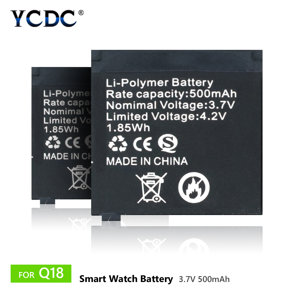 "Buy 1pcs-8pcs 3.7V Rechargeable Li-ion Polymer Battery 500mAh For Smart Watch Q18 33x31x5mm/1.29x1.22x0.19"" Lithium Batteries for $4.37 in AliExpress store"