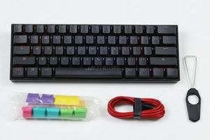 Image 5 - Anne Pro2 mini portable 60% tastiera meccanica della tastiera senza fili di bluetooth Gateron mx Blu Marrone interruttore tastiera gaming cavo staccabile