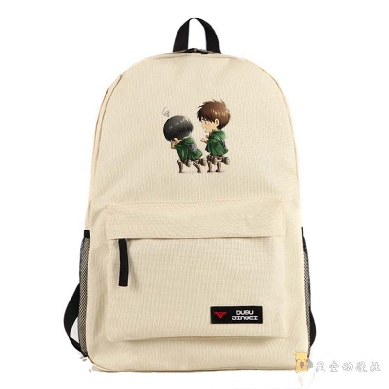 Attack on Titan Canvas School Bag Cartoon Unisex Bookbag Cosplay Backpack for Teenagers Students a suit of charming rhinestone heart necklace bracelet ring and earrings for women