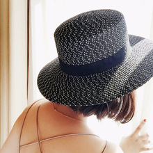 a2cab581c3f1b 2017 new fashion women paper straw sun hat customized for summer beach hat( China)
