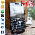 Restaurado original nokia e63 mobile teléfono 3g wifi ruso del teclado qwerty